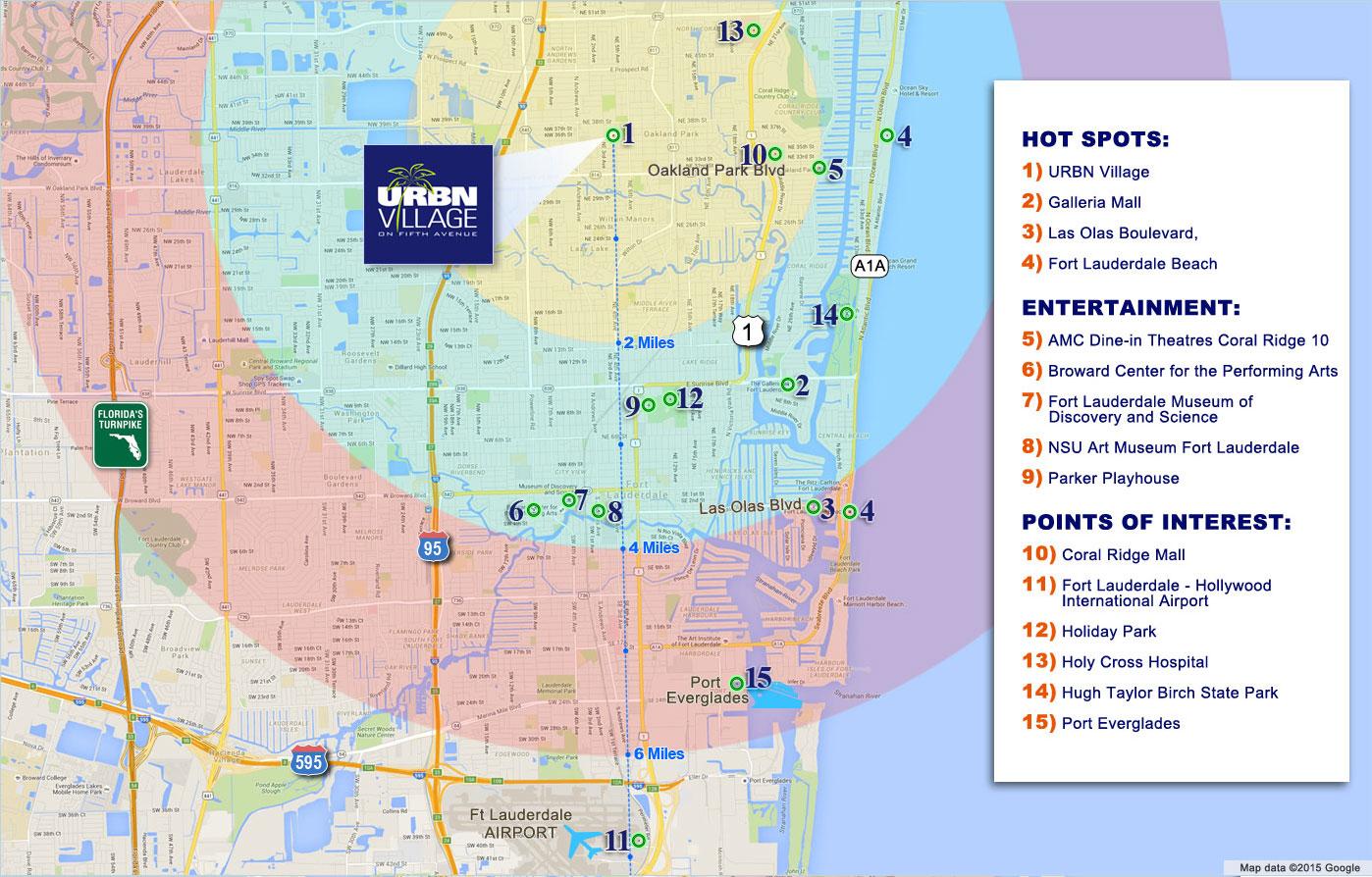 Area Info Map - Oakland Park Real Estate